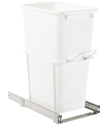 in cabinet trash can roll out pull out cabinet trash can 50 quart in cabinet trash cans