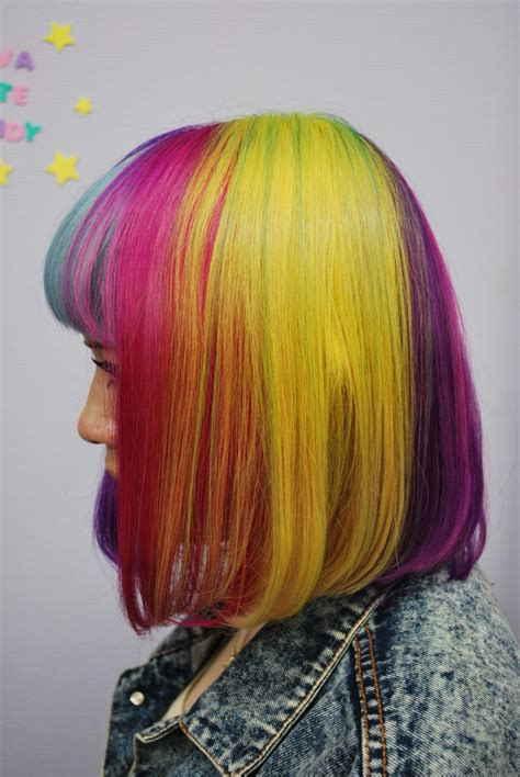 Dye Hair by Rainbow Bob Hair Hair Colors Ideas