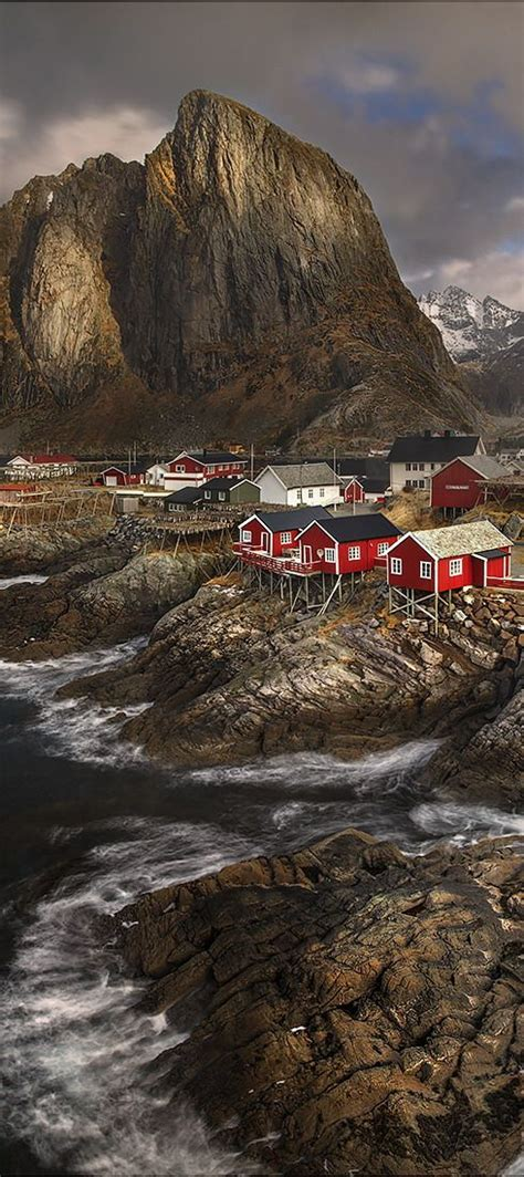 Lofoten Islands Reine Village In Norway The Cold And The