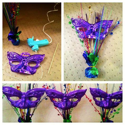 mask table decorations masquerade mask centerpiece ideas masquerade