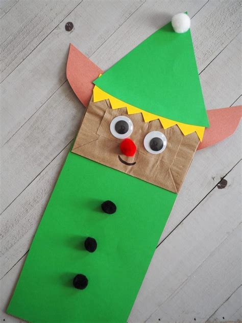 christmas paper bag puppets   book christmas