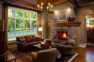 Cedar fireplace mantels transitional chicago with for Canape cuir rustique