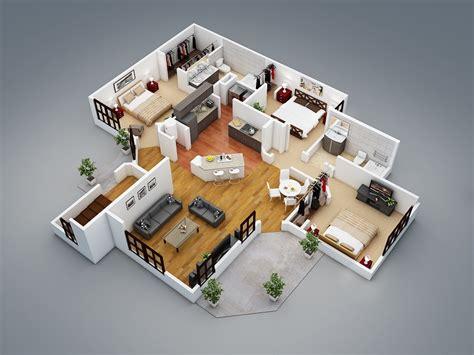 cr r sa chambre en 3d plan maison 3 chambres 3d