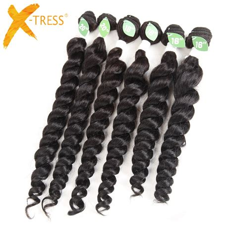 Spiral curls have been a thing of envy for centuries. X TRESS Spiral Curl Hair Weave Bundles 6Pcs/Pack For Full ...