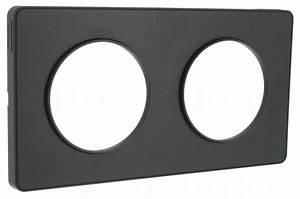 Plaque Schneider Odace : plaque schneider electric odace touch 2 postes anthracit ~ Dallasstarsshop.com Idées de Décoration