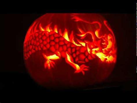 pumpkin carving  dragon youtube