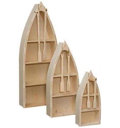 Rowboat Bookcase by Amish Unfinished Pine 4 Nautical Row Boat Bookcase