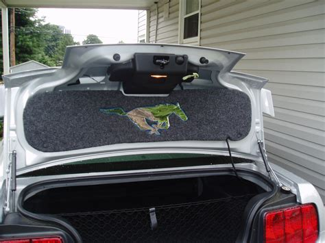 trunk lid mat installed ford mustang forum
