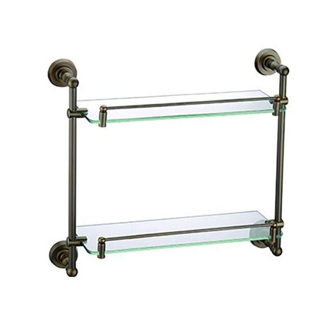 Badezimmer Regal Messing by Badregal Doppelt Glasablage Antik Messing Badezimmer
