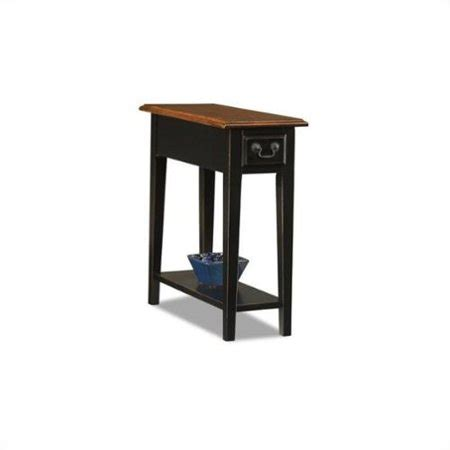 10 Inch Nightstand by Hardwood 10 Inch Chairside End Table In Black And Oak
