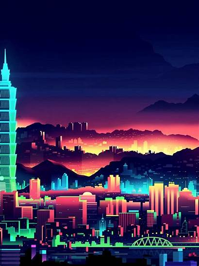 Neon Desktop Wallpapers Animated Mobiles Ipad Sunset