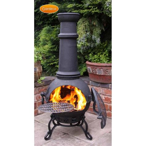 Large Cast Iron Chiminea Sale - gardeco toledo chiminea 100 cast iron bronze finish 4