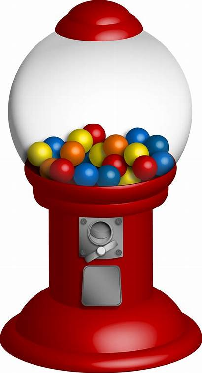 Gumball Gum Machine Bubble Clipart Candy Chewing