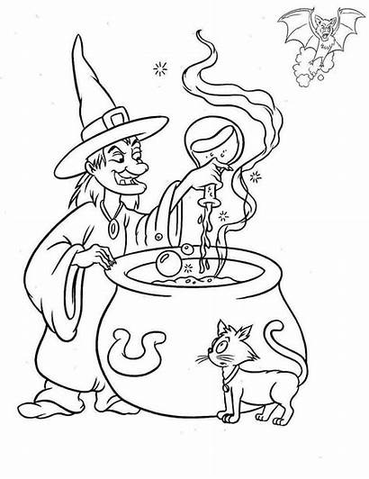 Coloring Witch Pages Printable Brew Potion Choice