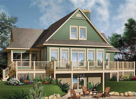 Four Season Vacation Home Plan 21569DR 1st Floor