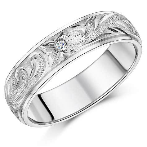 white gold patterned rings  wedding bands  men  women
