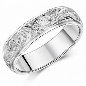 white gold patterned rings and wedding bands for men and women With patterned wedding rings