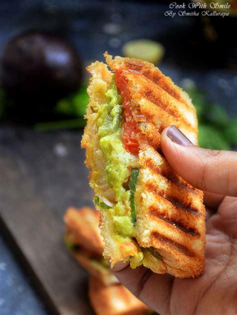 Indian Vegetarian Avocado Sandwich Recipe Guacamole