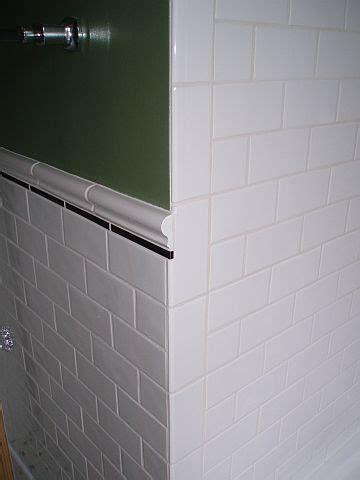 ending chair rail at an outside corner ceramic tile