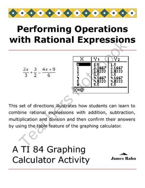 Rational Expressions Worksheet C Answers  Matching Games Rational Function And Precalculus On