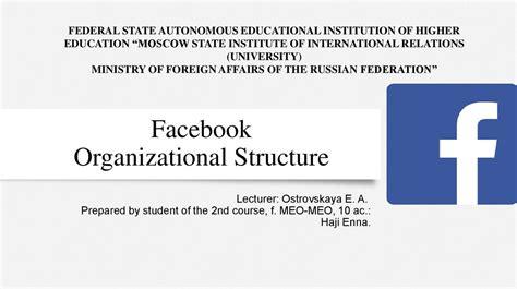 Facebook Organizational Structure - презентация онлайн