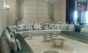 Salon Vert De Gris : salon marocain salon marocain gris vert table basse ~ Melissatoandfro.com Idées de Décoration