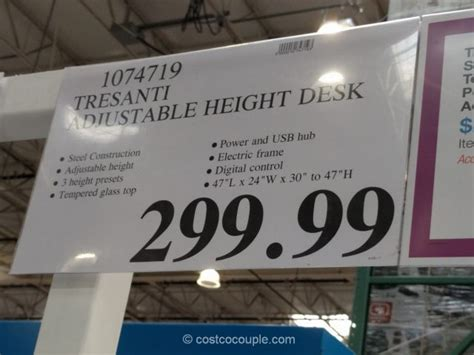 costco height adjustable desk costco desk organizer tresanti adjustable height desk