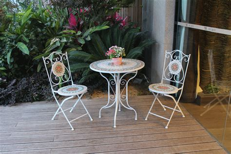 fashion iron tables and chairs mosaic tables and chairs