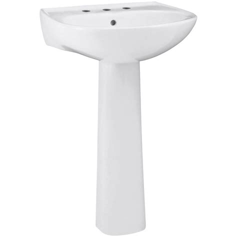 pedestal bathroom sink at home depot sterling sacramento vitreous china pedestal combo bathroom