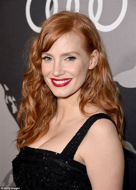 actress like jessica chastain scientists discover blondes are better in bed daily mail
