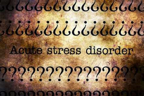 acute stress disorder rubber stamp stock photo image