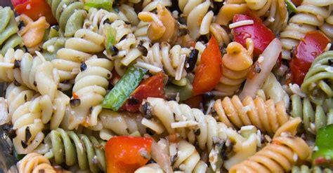recette facile de salade de p 226 tes aux trois couleurs