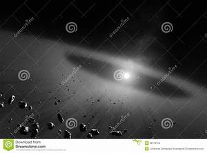 Asteroid Belt With Inner Four Solar Planets Stock Images ...