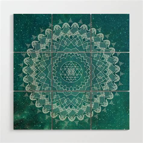 Decorating your home is always an exciting task, and creating a diy art project can be fun for the whole family! Teal Mandala Wood Wall Art by colorandform   Society6