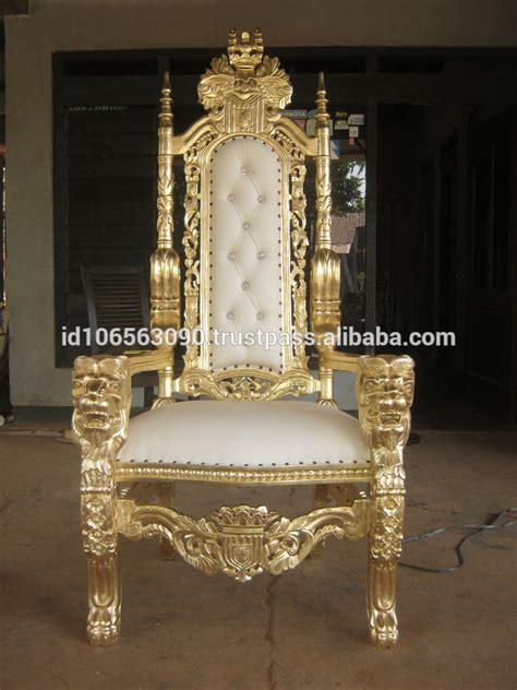 k 246 nig thron stuhl gold holzst 252 hle produkt id 50002690003