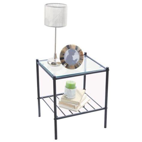 cdiscount chaise de salle a manger 14 table de chevet verre metal digpres