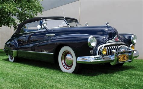 1949 Buick Roadmaster Convertible Full Hd Wallpaper And