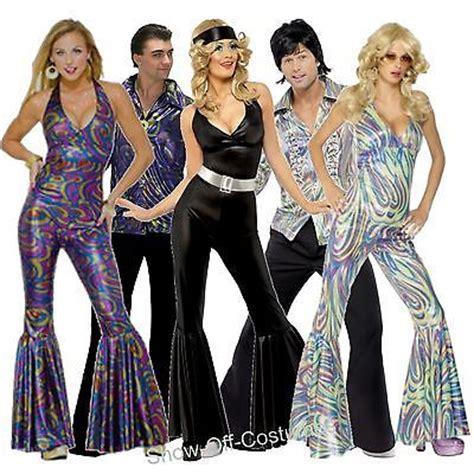 disco fever mens ladies fancy dress costumes