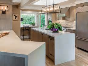 wood tops for kitchen islands waterfall kitchen countertops