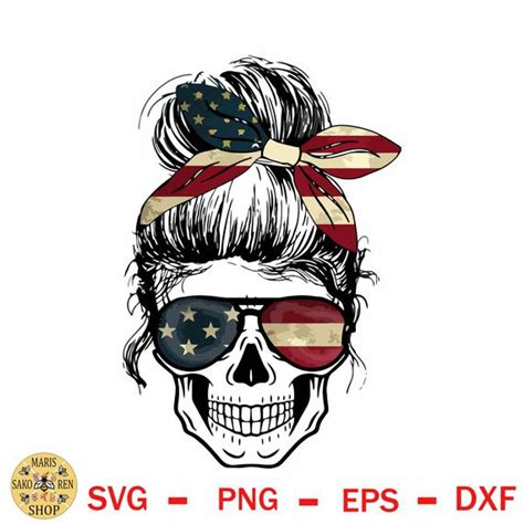 Buy in loving memory/personalized biker remembrance/memorial/vinyl decal/vehicle decal/graphic sticker (white): Discount 70% Skull American Flag Svg Messy Bun Skull Svg ...