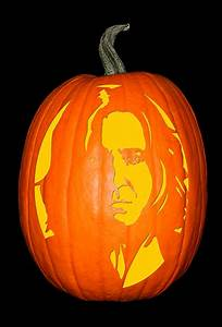harry potter pumpkin carving templates - harry potter severus snape the custom punkin stencil co