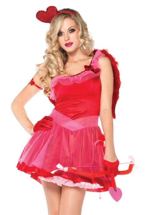 love hearts kiss  cupid costume sexy valentines fancy