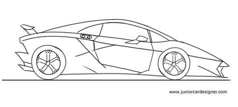Kleurplaat Lamborghini Sesto Elemento by How To Draw A Lamborghini Sesto Elemento Car Drawing For