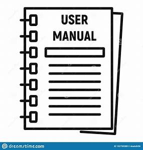 User Manual Icon  Outline Style Stock Vector