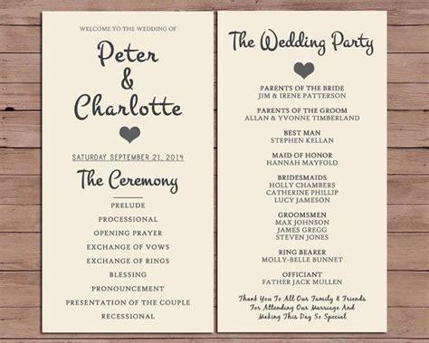 wedding program order  service  darlingpapercompany