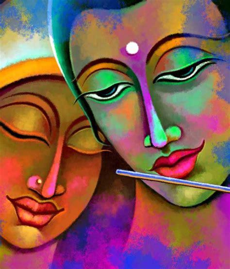 art factory radha krishna canvas painting religious