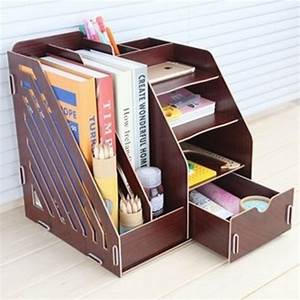 Office, Sundries, Wood, Desk, Organizer, With, Drawer, Expandable, Mail, Sorter, Desktop, Stationary