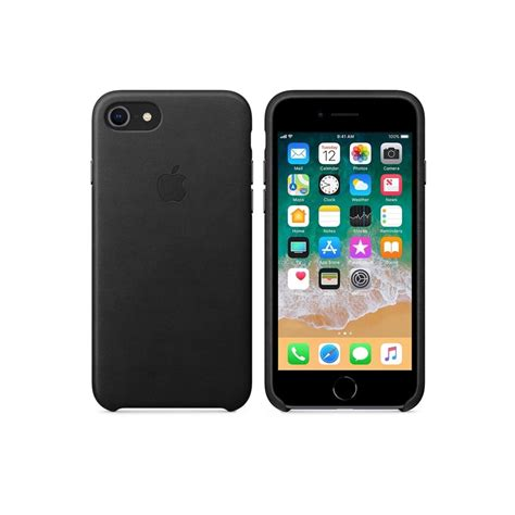 apple iphone accessories apple iphone 8 7 leather cover black apple from