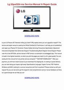 Lg 50pw350r Ma Service Manual Repair Guide By Latrisha