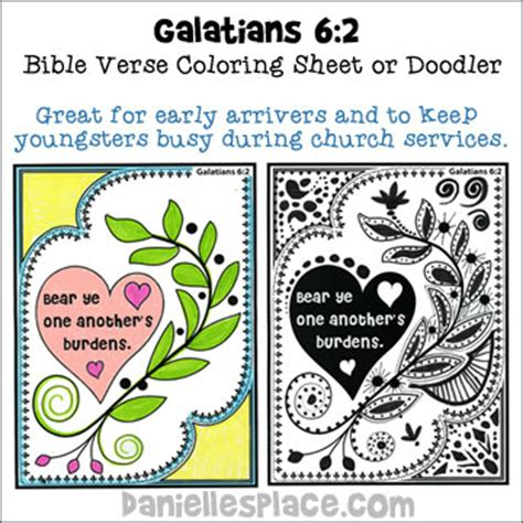 Galatians 6 10 Coloring Page Bluebells Class One Another 39 S Burdens Bible Crafts Can